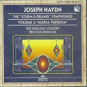Haydn: 'Sturm & Drang' Symphonies, Vol 3 (Nos 41, 48 'Maria Theresia', 65) /English Concert * Pinnock