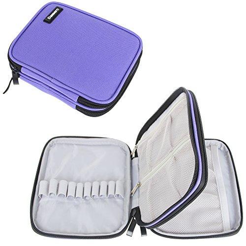 Damero Organizer Zipper Case for Crochet Hook and Accessories, Purple (No Accessories Included) (Knitting Accessories Organizer compare prices)