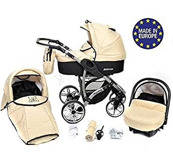 ALLIVIO - Landau pour bébé + Siège Auto - Poussette - Système ... 2ad6694b84a