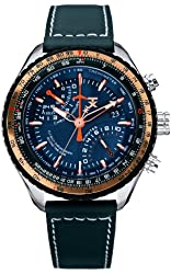 TX Men's T3C426 600 Series Pilot Fly-back Chronograph Dual-Time Zone Watch