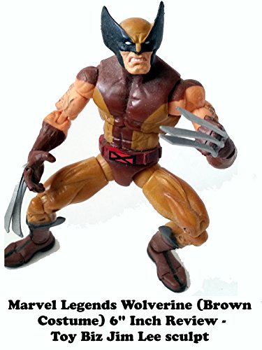 Marvel Legends (Brown Costume) WOLVERINE Review - toy biz Jim Lee sculpt