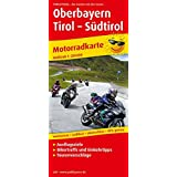 Motorradkarte Oberbayern - Tirol - Südtirol: Mit Ausflugszielen, Einkehr- und Freizeittipps, wetterfest, reißfest, abwischbar, GPS-genau. 1:250000