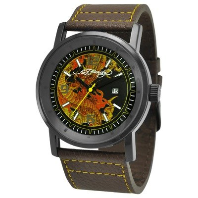 Ed Hardy Men's KM-DR Kombat Yellow Watch
