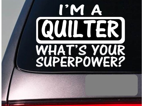 I'm a quilter sticker decal *E172* quilt quilting needle stand blanket (Quilters Stand compare prices)