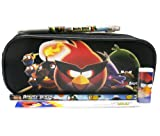 Angry Birds Black Pencil Case Set
