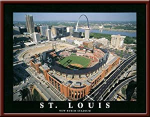 St. Louis Cardinals - New Busch Stadium Aerial - Lg - Framed Poster Print by Laminated Visuals
