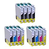 12x Inks - 2x Full Sets of T1295 Plus 4x T1291 Black Compatible Ink Cartridges (with chip) for Epson Stylus Office B42WD BX305F BX305FW BX305FW Plus BX320FW BX525WD BX535WD BX625FWD BX630FW BX635FWD BX925FWD BX935FWD Epson Stylus SX235W SX420W SX425W SX4