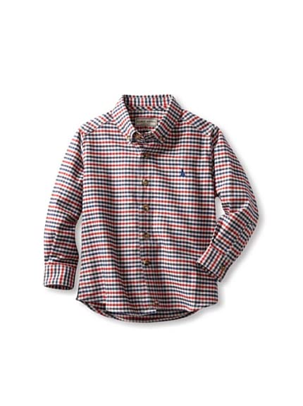 Darcy Brown London Boy's Check Button-Up Shirt