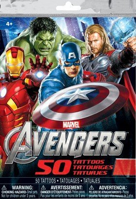 Marvel's Avengers, 50 Temporary Tattoos - 1