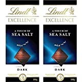 Lindt Excellence Sea Salt Touch Chocolate 100 Grams (Pack Of 2) – Imported; Premium Quality.