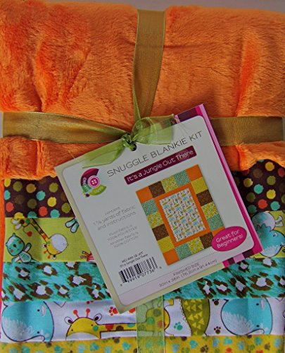 Its A Jungle Out There Snuggle Blankie Kit, Brown-Creative Cuts