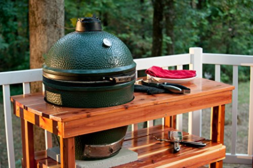 Buy Bargain JJGeorge Big Green Egg Table (Long Table for Large Egg)