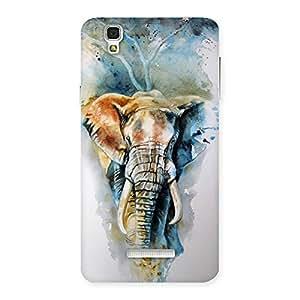Gorgeous Elephant Art Back Case Cover for Yu Yureka