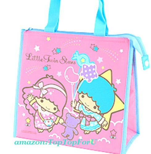 Sanrio Little Twin Stars Insulated Cooler Tote Lunch Bag With Aluminium Foil Lining (Keep Warm / Cold) front-224476