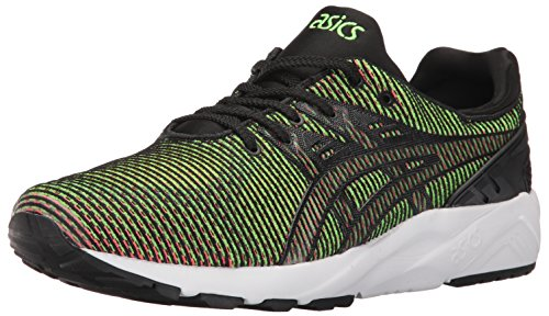 ASICS Men's Gel-Kayano Trainer Evo Fashion Sneaker, Gecko Green/Guava, 5 M US