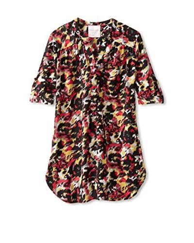 Romeo & Juliet Couture Women's Roll Tab Sleeve Button Down Shirt