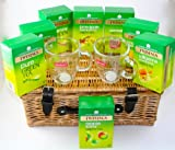 Twinings Luxury Green Tea Hamper 18 Inch with 2 Bodum Glass Mugs