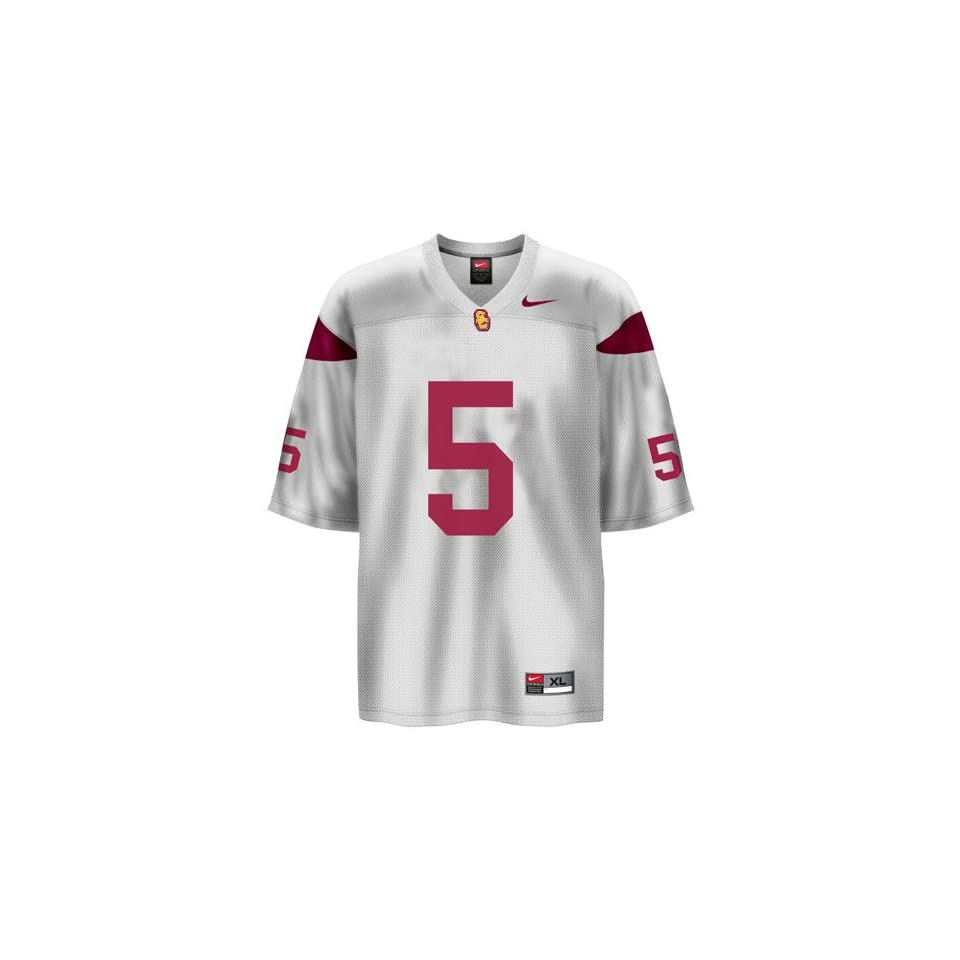 2be6bc7d491 Nike USC Trojans #5 White Youth Replica Football Jersey on PopScreen