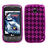 Hot Pink Argyle Candy Skin Case for LG Optimus S (Sprint), Optimus U (U.S.  ....