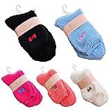 MIOIM レディース 冷え対策 ふわふわ 靴下 かわいい もこもこソックス 防寒 冷えとりソックス 滑り止め ルーム靴下 就寝ソックス 22-25cm