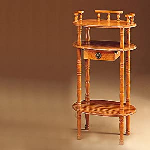 Oak Telephone Stand - Coaster 4319