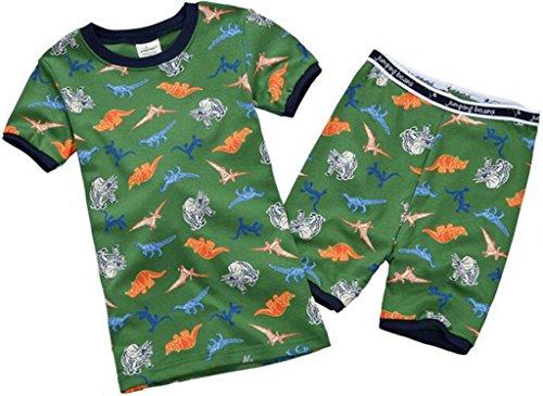 Boys Pajamas Cartoon Dinosaur Cotton Short Sleepwear Size 6Y