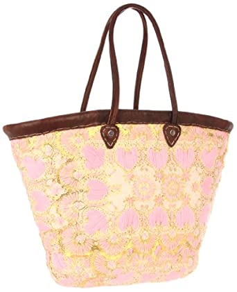Z&L 31997-Ibiza Large-Pink Hearts Tote,Multi,One Size