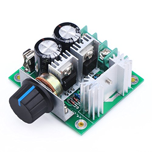 DROK® PWM DC Motor Stepper Controller DC 12V to 40V Motors Fan Speed Control Electric Pump Speed Controller Stepless 10A Control Module, With reverse polarity protection, High-current Protection by DROK