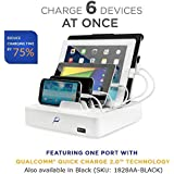 Powermod® Universal Multi-Device Charging Station with Qualcomm® Quick Charge 2.0TM technology for Smartphones and Tablets; including iPhones, iPads, Nexus, Galaxy, and more, White (MV-UNI-6)