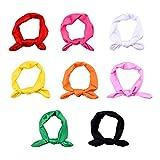 Blulu Baby Girl Bow Hairband Turban Knot Rabbit Headwear Headbands (8 Pack)