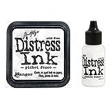 Tim Holtz Ranger Distress - Picket Fence Ink Pad and Re-inker Bundle