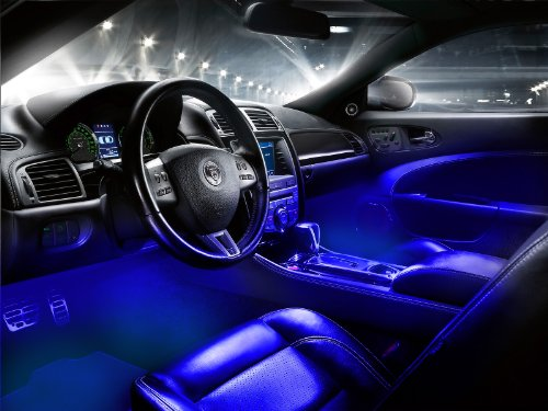 interior led underdash lighting kit 4pc blue interior car led lights. Black Bedroom Furniture Sets. Home Design Ideas