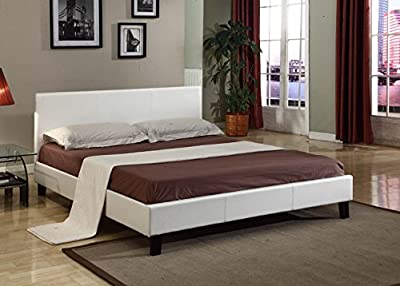White Faux Leather Single Bed - 3FT, Sale!! Matt Finish!! (White)