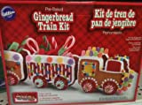 Wilton Pre-baked Holiday Gingerbread Train Kit with Candy