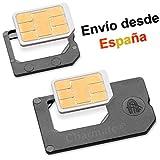 Nano SIM Adaptador SET - PRIMERA CALIDAD - FABRICADO EN ALEMANIA - Para tarjetas Nano Sim del iPhone 5 para utilizar la Nano SIM como una SIM normal y Micro SIM para iPhone 4(S)