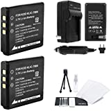 2-Pack KLIC-7004 High-Capacity Replacement Batteries With Rapid Travel Charger For Kodak PlaySport Camera. UltraPro...