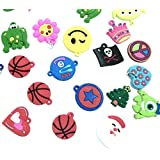 5 Pack of Charms for Rubberband Loom Bracelets 30 Pcs