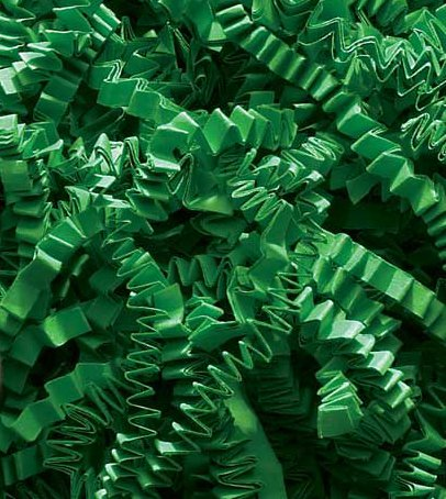 1/2 LB Crinkle Cut Paper Shred - Green
