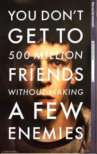 The Social Network 2010 Original USA One Sheet Movie Poster David Fincher Jesse Eisenberg