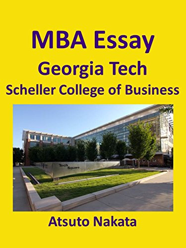 Georgia tech admission essay