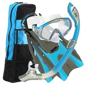 U.S. Divers Adult Starbuck II Purge LX Mask/Paradise Dry LX Snorkel/Hingeflex II Fins/Pro Bag,Small / Medium (Men 4-8.5, Women 5-9.5)