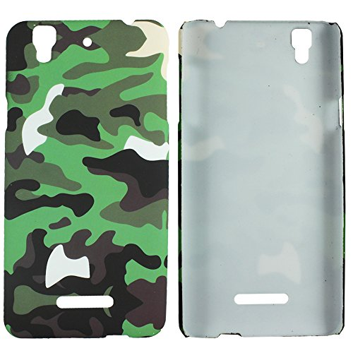Heartly Army Style Retro Color Armor Hybrid Hard Bumper Back Case Cover For Micromax Yu Yureka Cyanogenmod - Army Green