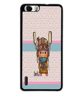 PrintDhaba Cartoon D-4809 Back Case Cover for HUAWEI HONOR 6 (Multi-Coloured)