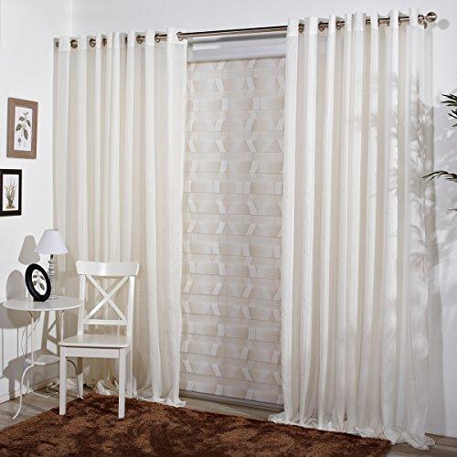 San carlos chloe cortina moderna ollados met licos 140 for Visillos cocina modernos