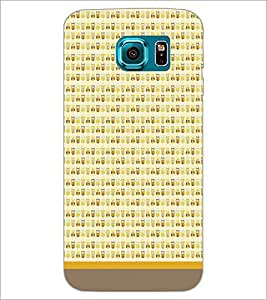 PrintDhaba Owl Pattern D-1671 Back Case Cover for SAMSUNG GALAXY S6 EDGE (Multi-Coloured)