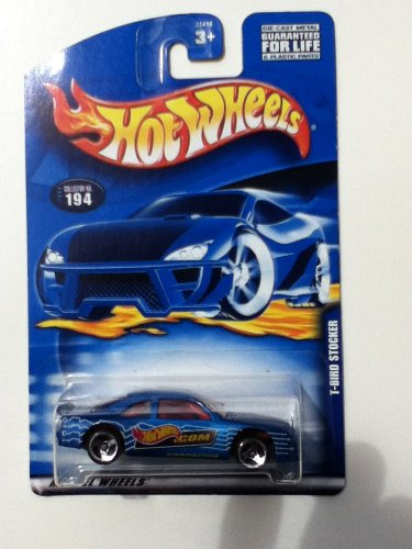 2000 - Mattel - Hot Wheels - Collector #194 - T-Bird Stocker - Variant Card / Rare Dot Com Graphics - Red Interior - Custom Wheels - New - Out of Production - Limited Edition - Collectible - 1