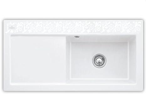 Villeroy und Boch Subway 60 XL White Pearl cerámica-fregadero decoración en blanco fregadero