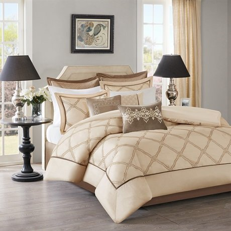 Bombay Teramo Multi Piece Comforter Set, King, Ivory