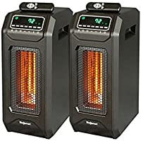 2 Pk LifeSmart Infrared Heater Tower w/Smart Boost Instant Heat