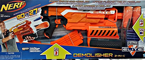 Nerf N strike Elite Demolisher 2 in 1 Blaster with Extra clip and 10 Extra Darts (Nerf Extra Darts And Clips compare prices)